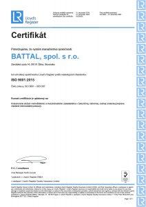 Certificate Slovak