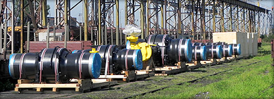 Transport from Czech republic to Kazakhstan, gas pipeline valves